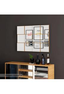 Painel Decorativo Quadriculado- Freijo- 75X100X5Cmdalla Costa