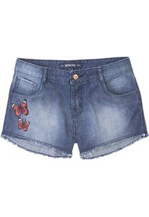 Shorts Summer Jeans Feminino Hering Com Patches