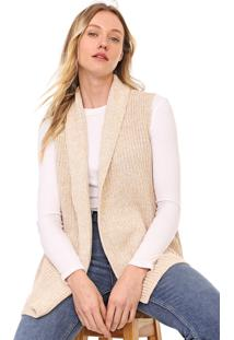 Colete Gap Tricot Xale Bege