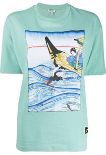 Kenzo Camiseta Com Estampa - Azul