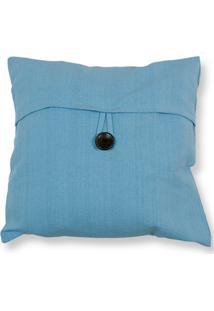Capa Para Almofada Em Algodão Romantic 40X40Cm Azul Claro