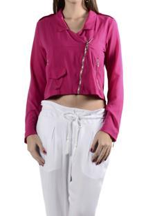 Jaqueta Marcia Mello Crepe M California Collezione Pink