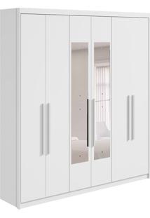Guarda-Roupa Casal Com Espelho Libra 6 Pt 3 Gv Branco