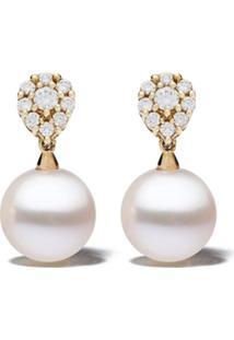 Yoko London Par De Brincos De Ouro 18K Com Pérola E Diamante - 6