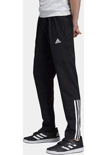 Calça Infantil Adidas Yb Tr Eq W Pt C Masculina - Masculino-Preto