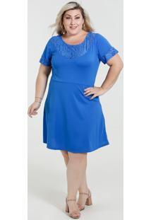 Vestido Feminino Detalhe Renda Plus Size Marisa