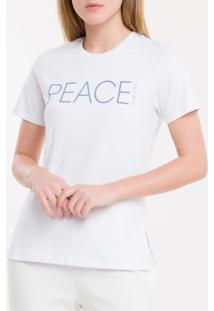 Camiseta Baby Look New Year Peace - Branco 2 - P