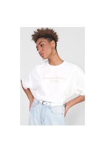 Camiseta Colcci Responsible Conscience Off-White
