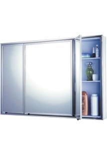 Espelheira De Sobrepor Cristal 1103-7 86,5X58,5Cm Branco Cris-Metal