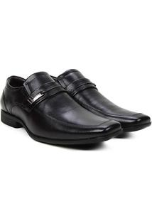Sapato Couro Social Ferracini Jop Ii Masculino - Masculino-Preto