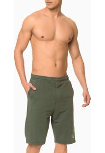 Bermuda Masc Moletom Ck One Loungewear - Militar - S