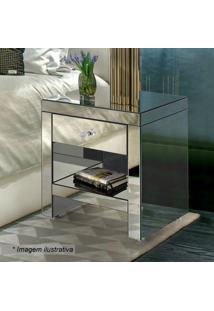 Criado Mudo Elegance Liso- Espelhado- 57X48X36Cmrg Móveis
