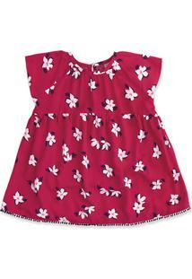 Vestido Bebê Menina Em Tecido De Viscose Hering Kids