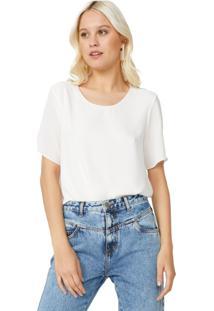 Camiseta Amaro Chiffon Essential Off-White - Branco - Feminino - Dafiti