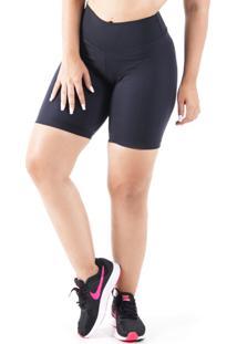 Bermuda Mama Latina Ciclista Suplex Preta