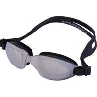 76c3e04ca0735 Centauro. Óculos De Natação Oxer Neptuno Mirror - Adulto - Prata Preto