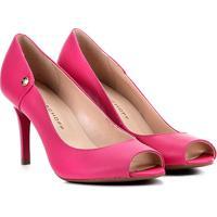 38a7ee386c Peep Toe Couro Jorge Bischoff Salto Fino - Feminino-Pink