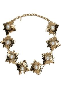 Lool Colar 'Flaur Flores' - Dourado