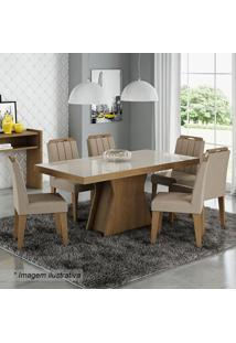 Conjunto De Mesa & Cadeiras Olívia Para 6 Lugares- Savancimol