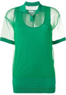 P.A.R.O.S.H. Camisa Polo Com Sobreposição - Green