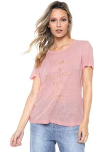 Camiseta Forum Lettering Rosa