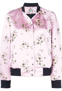 Kenzo Jaqueta Bomber Floral - Rosa