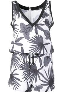 Liu Jo Relaxed Summer Playsuit - Branco