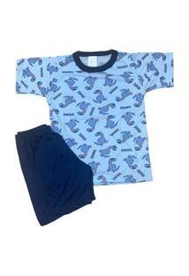 Pijama Infantil Malha Fria Kidsline Dinos Skate
