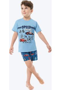 Pijama Azul Claro Speed Racing Infantil
