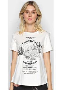 Camiseta Forum Pantera Feminina - Feminino-Areia