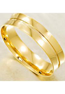 Aliança De Ouro Semi Abaulada Lisa - As1259
