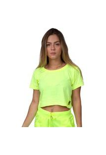 Camiseta Kings Sneakers Cropped Neon Amarelo