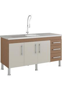 Gabinete Para Cozinha Flex 80X144Cm Amêndoa E Off White