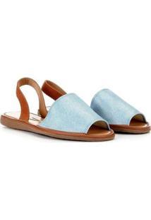 Rasteira Vizzano Avarca Jeans - Feminino-Azul Claro