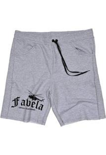 Bermuda Moletom Favela Masculina - Masculino