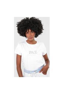 Camiseta Lança Perfume Paz Branca