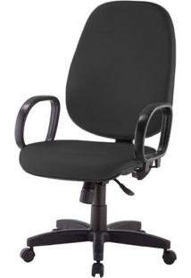 Cadeira Corporate Presidente Cor Preto Com Base Nylon - 43968 - Sun House