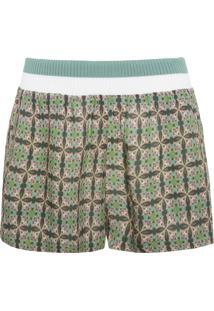 Short Feminino Pijama Indiano - Verde