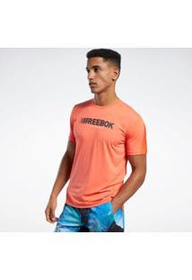 Camiseta Reebok S E Regatas Ts Ac Graphic Move Tee Q2 Masculina - Masculino-Laranja