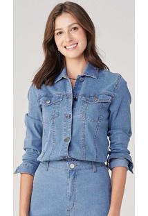 Jaqueta Feminina Em Jeans Cotelê