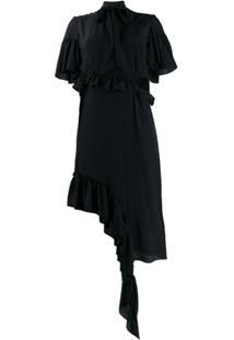 Rokh Deconstructed Midi Dress - Preto
