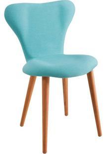 Cadeira Jacobsen Linho Azul Turquesa