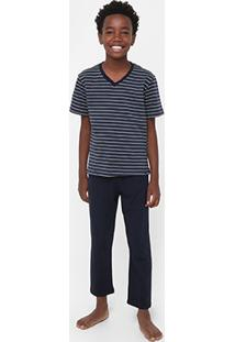 Pijama Infantil Lupo Listrado Masculino - Masculino