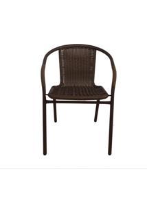 Cadeira Indaiá Marrom Rattan