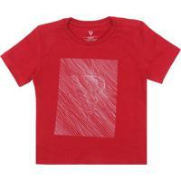 13251690e23 Camiseta Para Meninos Vermelha Vr Kids infantil