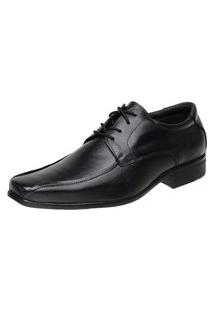 Sapato Social Torani Com Cadarço Couro Preto