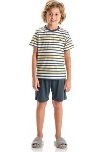Pijama Marcelo Curto Infantil Amarelo/10