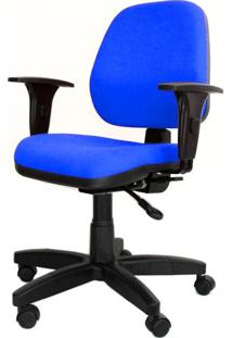 Cadeira Corporate Executiva Cor Azul Com Base Nylon - 43975 - Sun House