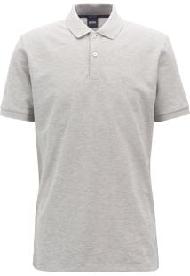 Polo Hugo Boss Masculina Regular-Fit Firenze/Logo Grey