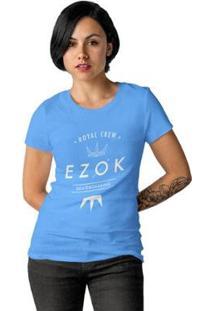 Camiseta Ezok Royal Crew Feminina - Feminino-Azul Claro